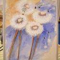 """Pitypangok by Made in Spirit, Képzőművészet, Festmény, Akril, Pasztell, Festészet, Vászonkép akrillal festve, keret nélkül vagy kérésre ezüst kerettel. Mérete: 18x24 cm  """"A Pitypang ..., Meska"""