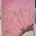 Ezüst Dandelion by Made in Spirit, Képzőművészet, Festmény, Akril, Pasztell, Festészet, (Egy hétvégi vásáron elkelt, ha szeretnél festek Neked hasonlót, akár más színű háttérrel. :)  Vász..., Meska