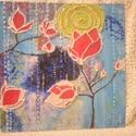 Tulipános by Made in Spirit, Képzőművészet, Festmény, Akril, Pasztell, Festészet, Mindenmás, 3D-s, egyedi technikával pvc lapra készített kép, keret nélkül  Mérete: 31,5 x31,5 cm   Kérlek figy..., Meska