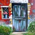 Provence-i életkép  akril festmény, Képzőművészet, Festmény, Akril, Vászonra akril festékkel festve. Mérete: 40x50 cm Egy van belőle. Az ár keret nélkül értendő. (szíve..., Meska
