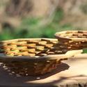 Gyönyörű fatálak , Konyhafelszerelés, Kenyértartó, Famegmunkálás, Gyönyörű, egyedi, fatál páros. Természetes anyagok és gyönyörű formák jelemzik, ezt a két fatálat. ..., Meska