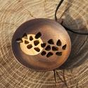 Fa ékszerek - LUNA, Ékszer, Medál, Nyaklánc, Gyönyörű, egyedi, kézzel gyártott fa ékszerek. Minden apró részlet gondosan kidolgozva, a medál és a..., Meska