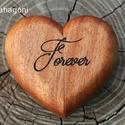 Gyűrűtartó doboz - Szívből szeretni , Ékszer, Esküvő, Ékszertartó, Esküvői dekoráció, Gyönyörű és egyedi, szív alakú gyűrűtartó doboz. A terjedelmes és meglehetősen nyilvánvaló hagyomány..., Meska