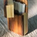 Cigaretta tartó doboz fából, 11 darabos cigaretta tartó doboz diófából.