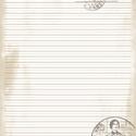Carte postale filofax jegyzetlap, Naptár, képeslap, album, Fotó, grafika, rajz, illusztráció, A/5 méretű filofax  vonalas jegyzetlap vintage stílusban. A jegyzetlapot magam szerkesztettem photo..., Meska
