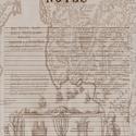 A/5 filofax jegyzetlap, Naptár, képeslap, album, Fotó, grafika, rajz, illusztráció, A/5 méretű filofax vonalas jegyzetlap vintage stílusban. A jegyzetlapot magam szerkesztettem photos..., Meska