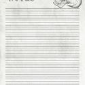 Skull A/5 filofax jegyzetlap, Naptár, képeslap, album, Fotó, grafika, rajz, illusztráció, A/5 méretű filofax vonalas jegyzetlap vintage stílusban. A jegyzetlapot magam szerkesztettem photos..., Meska