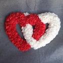 Egymásba fonódó szerelmes szívek Valentin napra, Otthon & Lakás, Dekoráció, Falra akasztható dekor, Mindenmás, Kiváló meglepetés lehet születésnapra, évfordulóra vagy a közeledő Valentin napra is, de akár felfü..., Meska