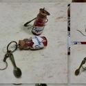 Magyar paprika fűszer fülbevaló, Ékszer, Fülbevaló, A magyarok egyik alap fűszerét tettem a képen látható fülbevalóba.   Az üvegcse mérete 0,8 ..., Meska