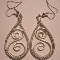 S fülik, Ékszer, Nyaklánc, Nikkelmentes, ezüstözött drótból készült. Hossza 4 cm. Szélessége: 2 cm., Meska