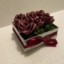 Alkalmi szatén rózsadoboz, Esküvő, Dekoráció, Helyszíni dekor, Virágkötés, Mindenmás, Az alkalmi rózsadoboz, nagyszerű ajándék lehet születésnapokra, névnapokra, anyák napjára, valentin..., Meska
