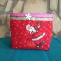 Télapós tároló  doboz , Baba-mama-gyerek, Karácsonyi, adventi apróságok, Gyerekszoba, Karácsonyi tároló doboz, kedves színfoltja lehet lakásodnak.  A dobozt körbe fogja egy dísz s..., Meska