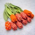 (10 db) TEXTIL TULIPÁN (narancssárga), Dekoráció, Otthon, lakberendezés, Dísz, Ünnepi dekoráció, Varrás, Virágkötés, Narancsliget vegyes csokor!  Egész évben tavaszt varázsol OTTHONODBA a tulipánok királynője: a TEXT..., Meska