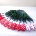 (12 db) TEXTIL TULIPÁN (piros-fehér), Dekoráció, Otthon, lakberendezés, Dísz, Ünnepi dekoráció, Egész évben tavaszt varázsol OTTHONODBA a tulipánok királynője: a TEXTIL TULIPÁN. A kertészek is cso..., Meska