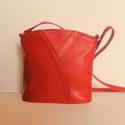 női táska, Táska, Marha bőrből készült női táska,puha tapintású,felül cippzáros,selyemmel bélelt,telefontok..., Meska