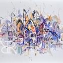 Rakéta - akvarell, Képzőművészet, Festmény, Akvarell, Festmény vegyes technika, Akvarell, filc, pasztell/ Akvarellpapír 24x32 cm 2015 Budapest, Meska