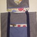 Anya Lánya táska, Táska, Válltáska, oldaltáska, Tarisznya, Pamut szövetből készült táskák.Az ár együtt értendő.A termék igényesen elkészített.Egyszínű szürke é..., Meska