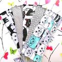 5 db maszk - cicás maszk, rombuszos maszk, virágos maszk - dupla rétegű maszk, maszk, Pamutból készült textil maszk (dupla rétegű),...