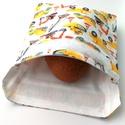 1 db markolós fiús snackbag, tépőzáras szendvics csomagoló - vízhatlan uzsonnás tasak, szendvics csomagoló, újraszalvéta, Ez az aranyos szendvics csomagoló uzsitasak az eg...