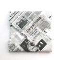 1 db újságpapír mintás tépőzáras újraszalvéta - vízhatlan szendvics csomagoló - szendvics csomagoló, újraszalvéta, Ez az aranyos szendvics csomagoló újraszalvéta ...