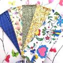 5 db maszk: pöttyös maszk, búzavirágos maszk, indás maszk, virágos maszk, magyar motívumos maszk - felnőtt maszk, maszk, Pamutból készült textil maszk (dupla rétegű),...