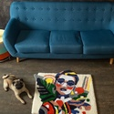 Design szőnyeg , Otthon & Lakás, Lakástextil, Szőnyeg, Mindenmás, Egyedi mintás szőnyeg külföldön népszerű tufting technikával készítve. Mérete: kb. 85*70cm. Legmaga..., Meska