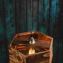 Rusztikus fa függeszték, Otthon, lakberendezés, Lámpa, Fali-, mennyezeti lámpa, Hangulatlámpa, Famegmunkálás, Rusztikus fa függeszték, újrahasznosított fenyőből, vékony matt lakkal kezelve.  Beltéri használatr..., Meska