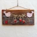 Szerelmes madárkák rusztikus kép fából , Esküvő, Otthon, lakberendezés, Esküvői dekoráció, Nászajándék, Famegmunkálás, Mindenmás, Mondd el, add át érzéseidet ezzel a bájos, romantikus, szerelmes képpel!  Sokat szolgált, tovább ör..., Meska