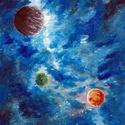 Az űr csodái - Bolygók , Képzőművészet, Festmény, Akril, Festészet, Űr, csillagok, bolygók, minden egy képen :)   Festésre alkalmas papírra készült, akrillal. , 15x21 ..., Meska