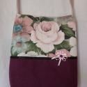 Romantikus rózsás, Táska, Válltáska, oldaltáska, Ez a táska is újrahasznosított anygból készült. Előző életében egy angol család ablakát ..., Meska