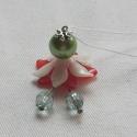 Virágtündér, Dekoráció, Húsvéti díszek, Dísz, Gyöngyfűzés, Üveg és akril gyöngyökből és virágsziromból készült tündérek. 7 színben. Mérete: 5 x 3 cm. Kérésre ..., Meska