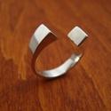 leveles ezüst gyűrű, Ékszer, óra, Gyűrű, Ékszerkészítés, Ötvös, . Ezüst gyűrű . 925-ös , fémjelzett.  Általában  5,8  g. Bármilyen méretben rendelhető. Fényes, de ..., Meska
