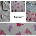 Szürke alapon színes tornacipős textil rátéttel dekorált 152-es (12-13év) hosszú ujjú kamasz lány póló, Ruha, divat, cipő, Női ruha, Gyerekruha, Kamasz (10-14 év), A textil rátétet úgy készítem, hogy a mintát teljes terjedelmében felvasalom a pólóra egy kétoldalú ..., Meska
