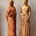 Szobor választható szentről, Képzőművészet, Szobor, Kerámia, Szobrászat, Kerámia, A választott szentet ábrázoló kisplasztika. 30-35cm magasságú kis terrakotta szobrok.  Az adott sze..., Meska