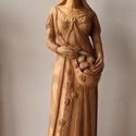Szobor választható szentről, Képzőművészet, Szobor, Kerámia, A választott szentet ábrázoló kisplasztika. 25-40cm magasságú terrakotta szobrok.  Névre szó..., Meska