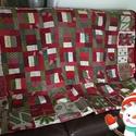 karácsonyi takaró, Otthon, lakberendezés, Lakástextil, Takaró, ágytakaró, Foltberakás, Varrás, Patchwork technikával készült puha meleg takaró. Az elkészítése szabással,  varrással, applikálássa..., Meska