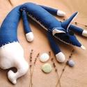 Kék láng róka , Játék & Gyerek, Plüssállat & Játékfigura, Róka, Varrás, Ha szeretnél egy aranyos kézzel készített plüss állatkát, akkor jó helyen jársz!  Kék láng róka egy..., Meska