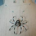 Halloween kristály pók szett, Ékszer, Ékszerszett,  Fekete-ezüst-türkizkék színű 3D-s pók kristályokkal. Feltűnő, egyedi ékszer. A pók lábai hajlékonya..., Meska