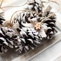 Karácsonyi toboz díszek, Dekoráció, Ünnepi dekoráció, Karácsonyi, adventi apróságok, Karácsonyi dekoráció, Mindenmás, 9db toboz dísz , Meska