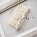 Menyasszonyi hajfésű, Esküvő, Esküvői ékszer, Menyasszonyi ruha, Hajdísz, ruhadísz, 7cm-es alapon gyönggyel díszített, Meska