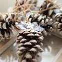 Karácsonyi toboz díszek, Dekoráció, Karácsonyi, adventi apróságok, Ünnepi dekoráció, Karácsonyi dekoráció, 9db toboz dísz , Meska