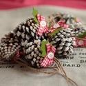 Karácsonyi toboz díszek, Dekoráció, Karácsonyi, adventi apróságok, Ünnepi dekoráció, Karácsonyi dekoráció, 9db   toboz dísz.  , Meska