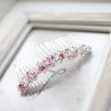 Gyöngyös menyasszonyi hajfésű, Esküvő, Hajdísz, ruhadísz, 7cm-es alapon, gyöngyös hajdísz , Meska