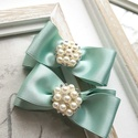 Brossos alkalmi cipőklipsz, Esküvő, Menyasszonyi ruha, Hajdísz, ruhadísz, Esküvői ékszer, A cipő elejére és oldalára is felhelyezhető., Meska
