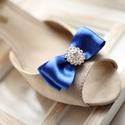 Királykék alkalmi cipőklipsz, Esküvő, Hajdísz, ruhadísz, Esküvői ékszer, Cipő, cipőklipsz, A cipő elejére és oldalára is felhelyezhető. 1 pár, Meska