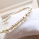Menyasszonyi gyöngyös fejdísz , Esküvő, Esküvői ékszer, Menyasszonyi ruha, Hajdísz, ruhadísz, Mindenmás, Gyöngyökkel díszített hajpánt., Meska