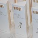 Mimi esküvői menükártya, Esküvő, Meghívó, ültetőkártya, köszönőajándék, Papírművészet, Esküvői menükártya csomag - egyedi szöveggel, 10 db  A képen látható stílusú, kézzel készített, min..., Meska