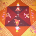 Mászótakaró, Baba-mama-gyerek, Gyerekszoba, Rokon színárnyalatokból készült puha takaró, melynek felszíne többféle tapintású anyagbó..., Meska
