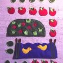 NYÁR - applikáció készlet óvodáknak (évszakfához), Baba-mama-gyerek, Dekoráció, Tépőzárral ellátott kis applikációk a NYÁR-hoz. A csomag tartalma: 1 db katicás domb 1 tó kacsákkal ..., Meska