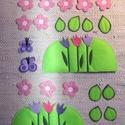 TAVASZ - applikáció készlet óvodáknak (évszakfához), Baba-mama-gyerek, Dekoráció, Tépőzárral ellátott kis applikációk a TAVASZ-hoz. A csomag tartalma: 2 tulipános domb 2 pillangó 10 ..., Meska